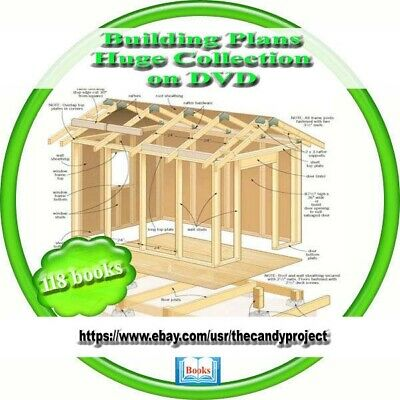 Building Plans 118 Huge Collection Vintage Learn How to Build Buidlings DVD