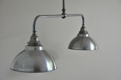 "MAGILL-2 ARM-PROVINCIAL STYLE LIGHT-INDUSTRIAL-""STEEL BRONZE"" ""french italian"""