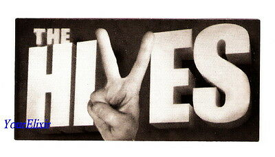 THE HIVES Black & White Album Octone Hand Peace Sign Case Sticker