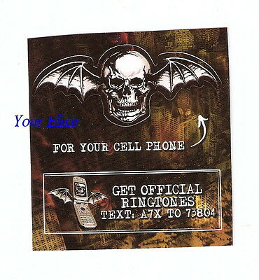 Lot 2pcs 1 SM SHEET AVENGED SEVENFOLD Case Ring Tone Cell Phone Music Sticker