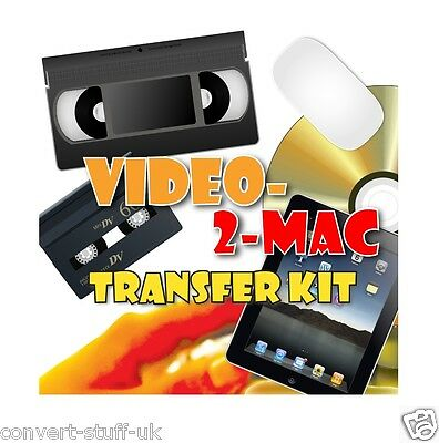 Copy / Convert / Transfer VHS & Camcorder Video Tapes to Mac OS High Sierra DVD