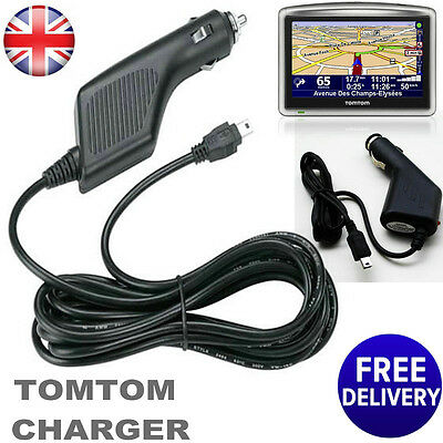New In Car Power Charger for TomTom SatNav Navigation GPS GO One XL XXL Live UK