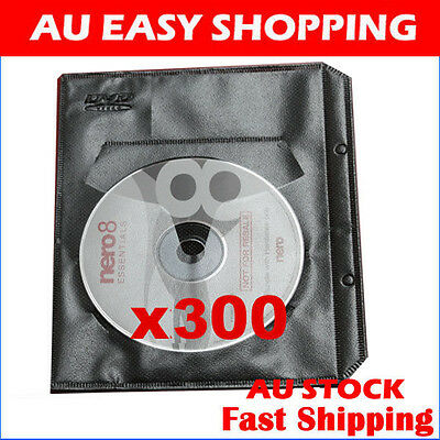 300 Black CD DVD sleeves For dvd + Movie cover Storage High quality ebox Brand