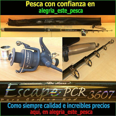 EQUIPO PESCA CARP FISHING ESCAPE 3.60mts + BAIT-RUNNER FLASH RUNNER X60