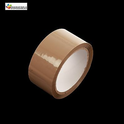 6 ROLLS OF BROWN PACKING PARCEL PACKAGING REMOVAL TAPE 48mm x 66M