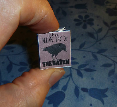 THE RAVEN by EDGAR ALLAN POE DOLLHOUSE MINIATURE BOOK 1:12 SCALE 34 Pages