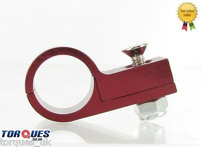 AN -10 ( AN10 AN 10 ) Red 16mm O.D TEFLON Hose Clamp P Clip Billet Aluminium