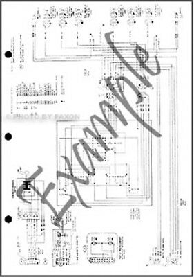 1989 Ford Cargo Truck Foldout Electrical Wiring Diagram Schematic CF6000-CF8000