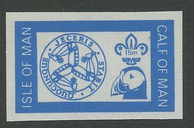 IOM Calf of Man 1972 Scout Puffin 15m imperf BLUE PROOF
