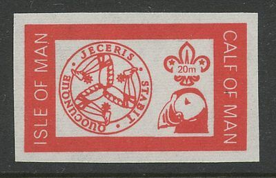 IOM Calf of Man 1972 Scout Puffin 20m imperf RED PROOF