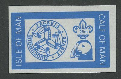 IOM Calf of Man 1972 Scout Puffin 25m imperf BLUE PROOF