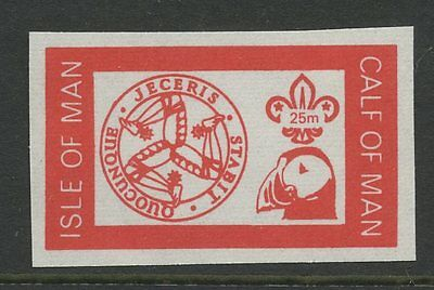 IOM Calf of Man 1972 Scout Puffin 25m imperf RED PROOF