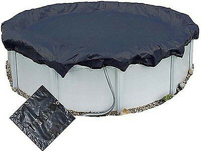 12 Ft Round Above Ground Swimming Pool Winter Debris Cover & Ratchet 12Ft