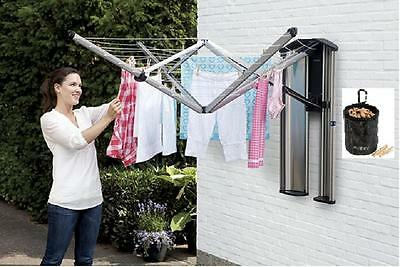 Brabantia Wallfix Wall Mounted Clothes Dryer With Storage Protection Box 24m