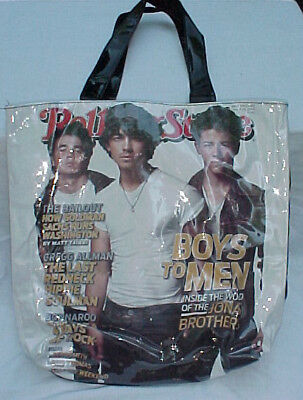 Rolling Stone Tote Bag featuring the Jonas Brothers