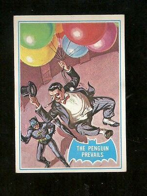 1966 TOPPS BATMAN #2B THE PENGUIN PREVAILS CENTERED EX-NM RARE 2ND CARD IN SET!!