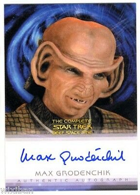 Quotable Star Trek DS9 Autograph Card MAX GRODÉNCHIK / ROM