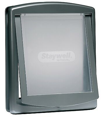 STAYWELL 757 MEDIUM GREY PET DOOR DOG FLAP with LOCKING PANEL & 3YR WARRANTY