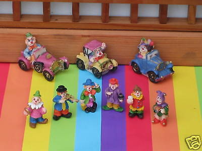 """MINIATURE CLOWN and DRIVER SET- CIRCUS -   SIZE 1 3/8"""""""