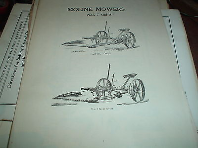 Illustrated Repair Catalod For Moline Mowers Nos. 7 And 8