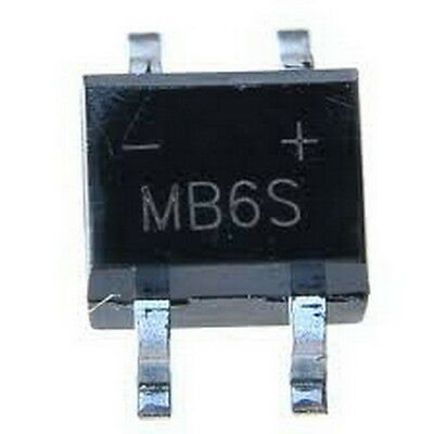 MB6S 0.5A 600V Miniature Mini SMD Bridge Rectifier, x10