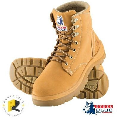 Steel Blue Argyle Mens Work Boots Wheat Safety Toe Cap 312102