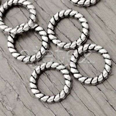 150 Tibetan Silver Tibet Style Ring Circle Bead Spacers Findings TS2689