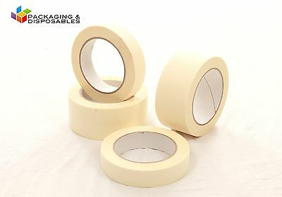 36 x Masking Tape Rolls 24mm x 50m low tack paint painting decorate