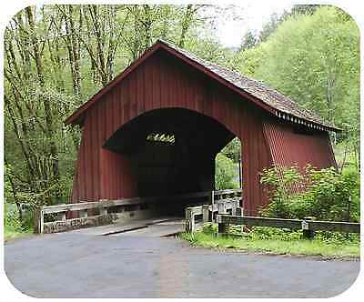 Mouse Pad Custom Thick Mousepad - Covered Bridge 1- Add Any Text For Free