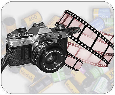 Mouse Pad Custom Thick Mousepad - Film Camera - Add Any Text For Free