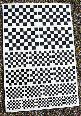 CAFE RACER style Chequered Flag stickers declas race bike superbike