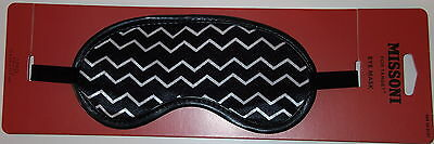 Missoni for Target Sleeping Mask BNWT Rare Sold Out Hard to Find Zig Zag Black W