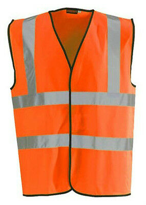 Blackrock Orange Hi Vis High Viz Visibility Vest EN471 Safety Waistcoat (80301)