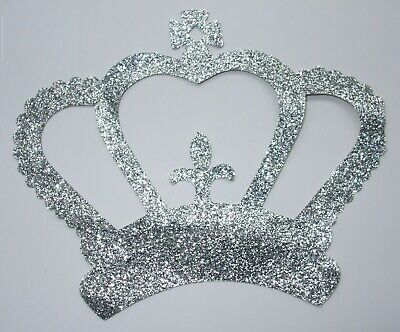 Fabric Glitter Crown Iron-On Hotfix Fancy Costume Tshirt Transfer Applique Patch