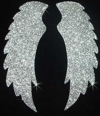 Fabric Glitter Angel Fairy Wing B Iron-On Hotfix T-Shirt Transfer Applique Patch