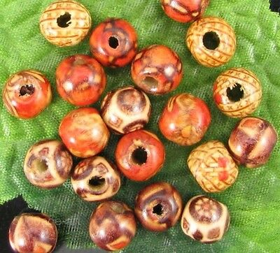 wholesale 100pcs mixed wood round beads loose spacer bead 10MM