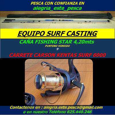 Pesca Equipo Surf Cast (Fishing Star 4.20 Puntera Hibrida + Kentas Surf 6000)