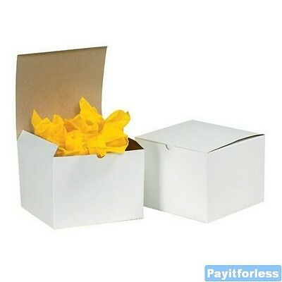 """3"""" x 3"""" x 2""""  White Merchandise Retail Packaging Chipboard Gift Boxes 100 Pc"""