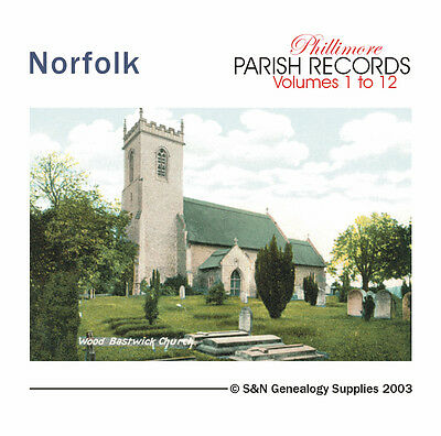 Norfolk Parish Registers - Complete Phillimore Marriage Records