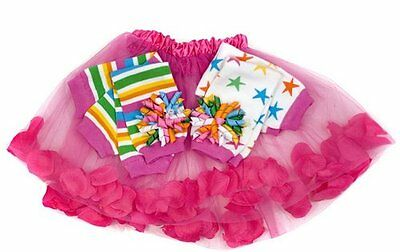 NEW Baby Toddler Girls Retro Gift Set Leg Warmers Petal Skirt Korker Bows