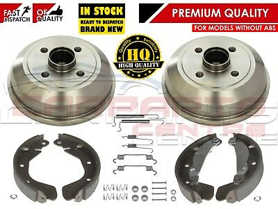 For Vauxhall Corsa C Mk2 2000- Rear Brake Shoes Drums Fitting Kit Non Abs Models