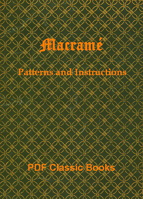 Macrame Knotting Cord Work Guide Craft Patterns Instructions Macramé Book on CD