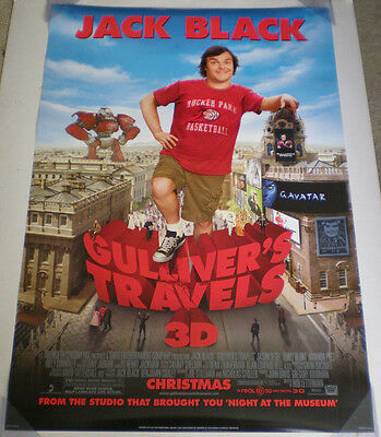 GULLIVER'S TRAVELS MOVIE POSTER 2 Sided ORIGINAL Version D 27x40 JACK BLACK