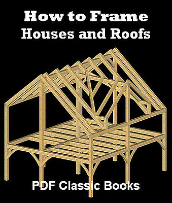 How to Frame Houses & Roofs Framing Plan Design Book CD