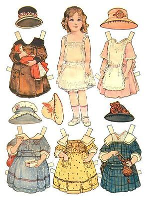 Dolly Cutout Dress-up, 2 Vintage Paper Doll books on CD