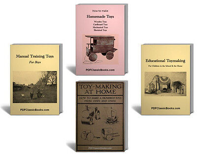 How to Make Homemade Toys, Toy-Making Projects Patterns Plans Books on CD