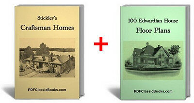 Craftsman Home & Edwardian House Floor Plans 2 Books on CD