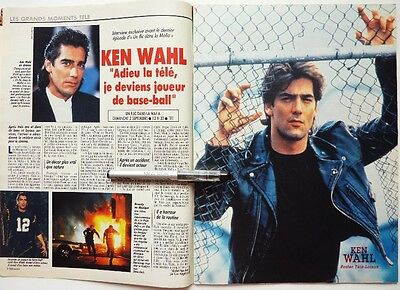 *KEN WAHL => 2 pages French 1990 Clipping !!!