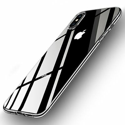 NEW iPhone X Hard Crystal Clear Transparent Slim Apple Case Frame Back Cover