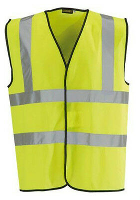5 x Blackrock Yellow Hi Vis Vest High Viz Visibility Waistcoat Safety (80300)